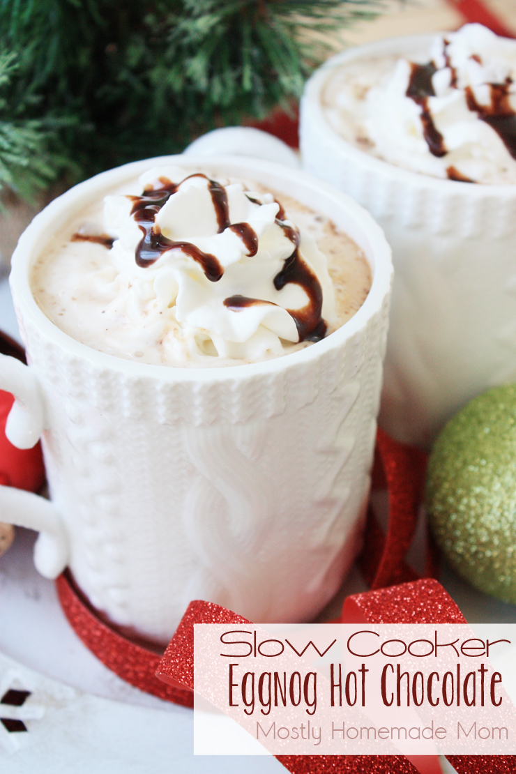 Slow Cooker Eggnog Hot Chocolate