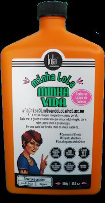 Teste completíssimo do Condicionador Minha Lola Minha Vida da Lola Cosmetics, frasco laranjado