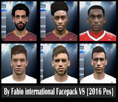 {Pes 2016} international Facepack V8 By Fabio