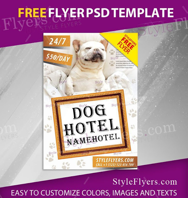 plantilla para banner de negocio de cuidado para perros