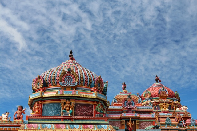 Templo Tamil Kaylasson en Abercrombie Mauricio