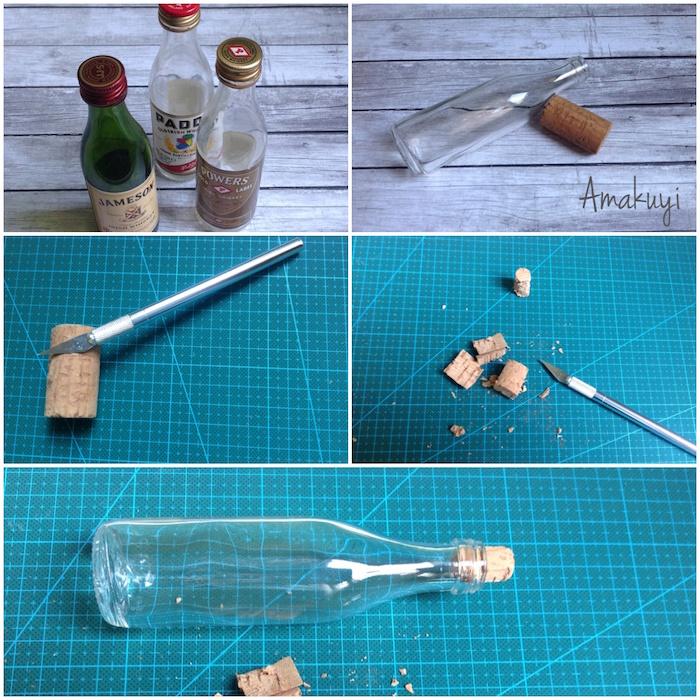 diy mensaje en una botella-Hacemos un tapón de corcho
