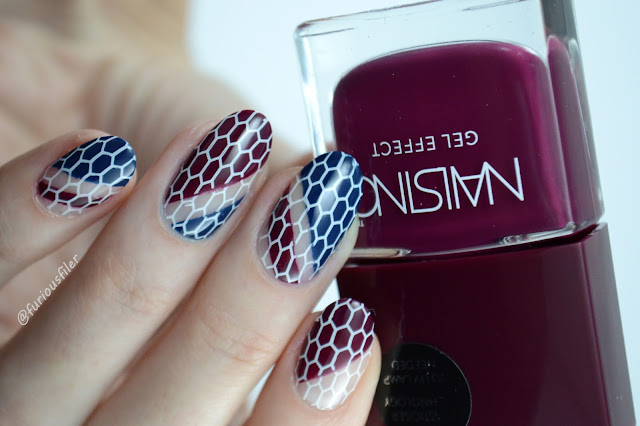 #31dc2016 furious filer stamping burgundy autumn fall nails