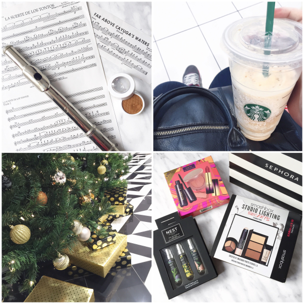 bbloggers, bbloggersca, canadian beauty bloggers, instamonth, round up, blog, colourpop cosmetics, flute super shock shadow, sheet music, black friday shopping, starbucks, christmas tree, sephora haul, nest fragrances, smashbox studio secrets lighting points perk, intro to tarte set
