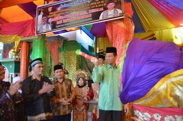 Wawako Pariaman Genius Umar Buka MTQ Ke VII Tingkat Kecamatan Pariaman Selatan di Mesjid Raya Pungguang Ladiang