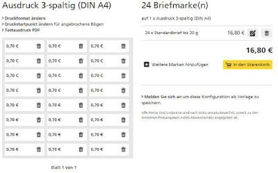 Screenshot: gewählte Marke dem Warenkorb hinzufügen