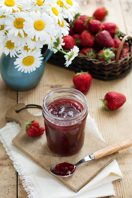 Confiture rhubarbe et fraises