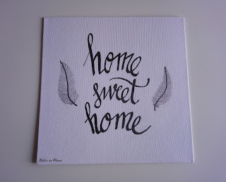 DIY Tableau Home Sweet Home (Calligraphie)
