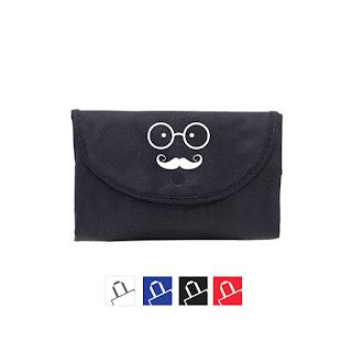 Bolsa de tela plegable personalizadas negras