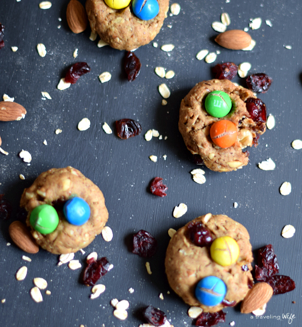Trail Mix Lactation Cookies [Dairy-Free] | www.atravelingwife.com | a-traveling-wife