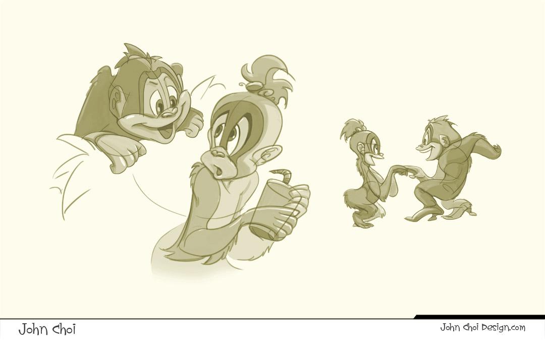 Orangutan Cartoon Orangutan Cartoon Poses