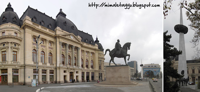 Biblioteca Universitaria y Monumento Revolución Bucarest