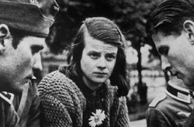 Hans Scholl (left), Sophie Scholl (center) and Christoph Probst