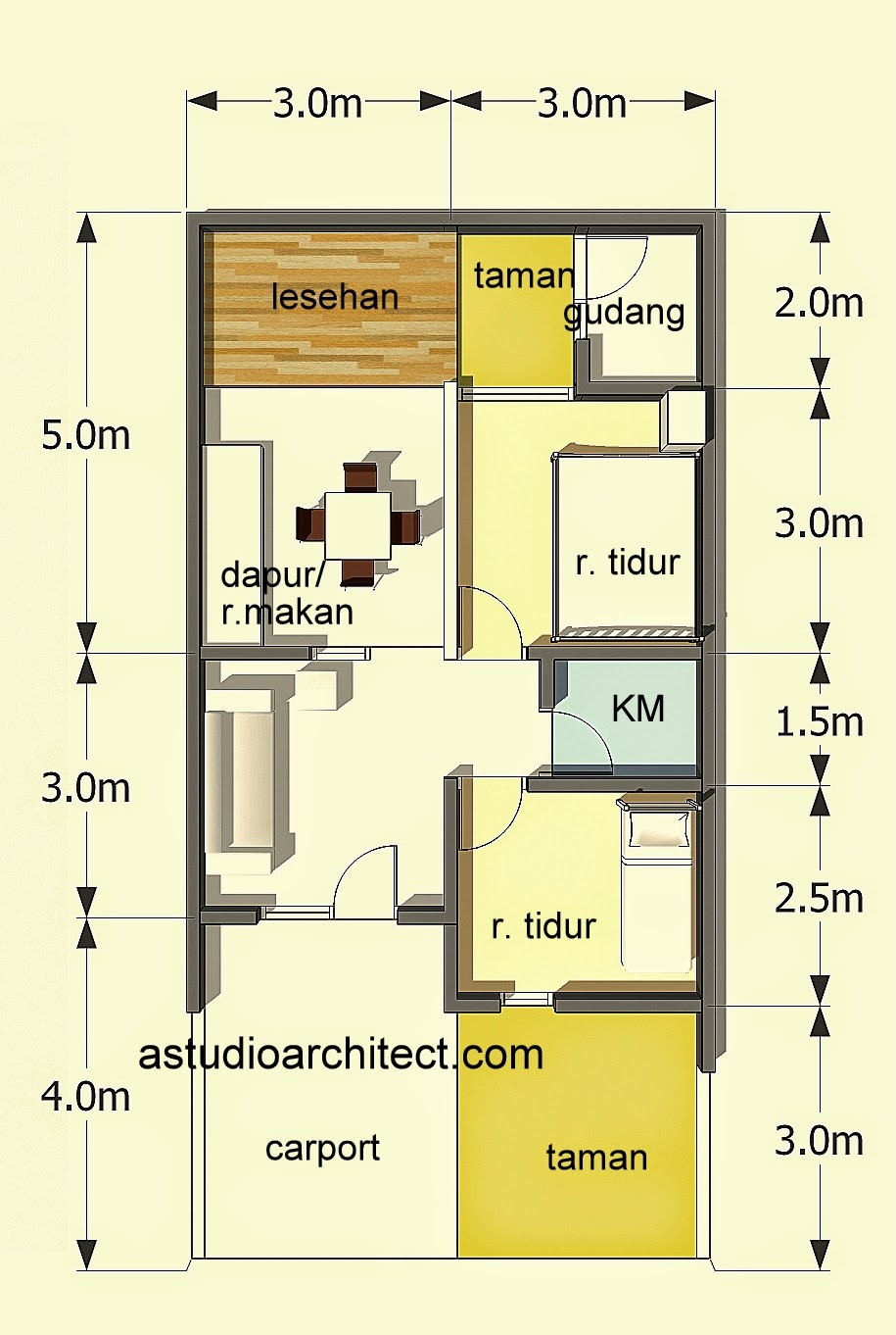 Denah Rumah Minimalis 2 Lantai Luas Tanah 90m2 Desain Rumah Minimalis