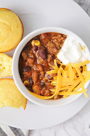 This rich and meaty stovetop chili is so easy to make, and full of delicious flavors!