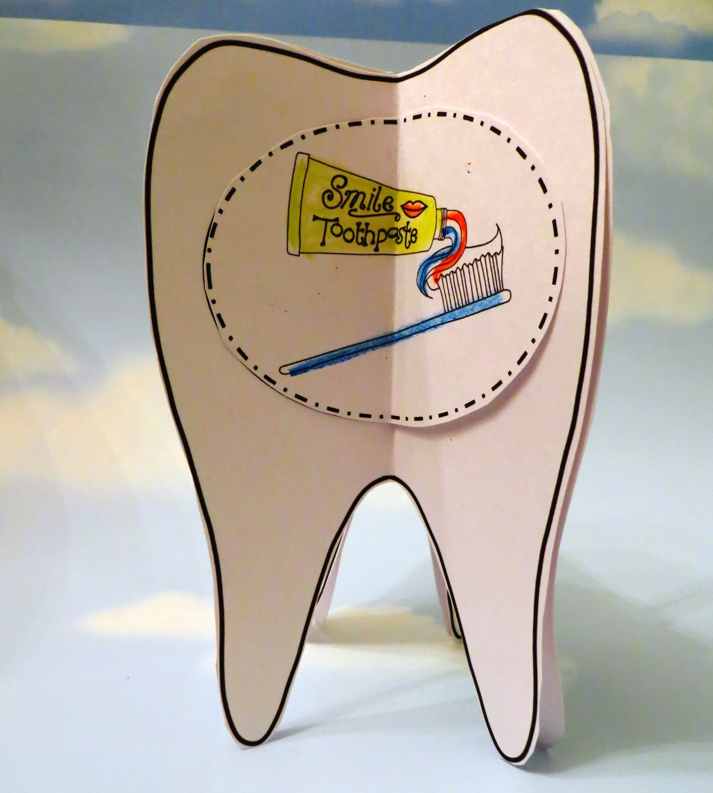 Sweet Tea Classroom Dental Health Craft A 3d Tooth