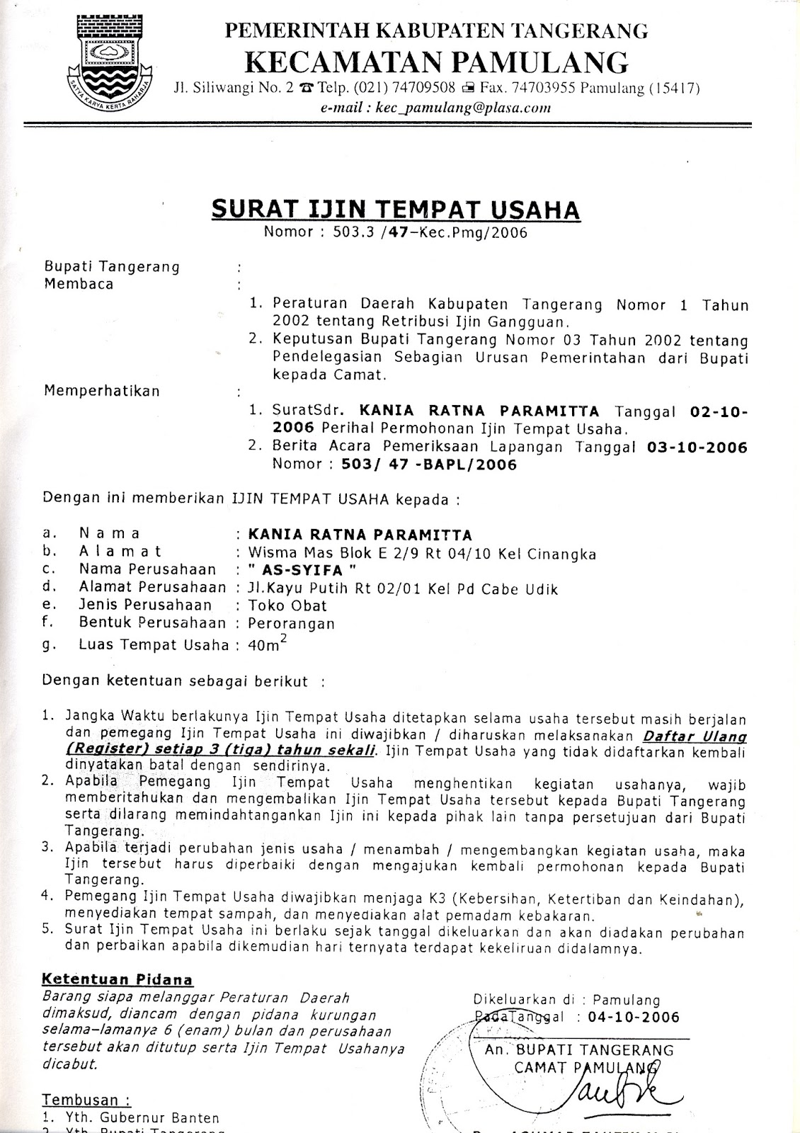 Format Surat Izin Tempat Usaha Altin Northeastfitness Co