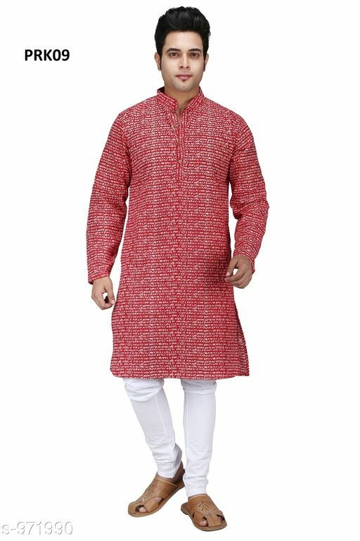 Classic Party wear Poplin Cotton Ethnic Kurta