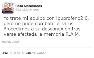 Declaraciones twitter de Coto Matamoros