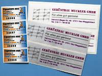 Etiketten mit Firmenname für Maschinen und Werkzeuge