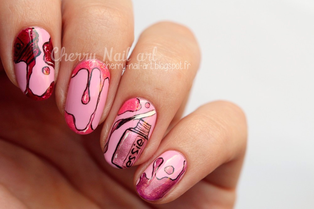 nail art vernis a ongles essie rose