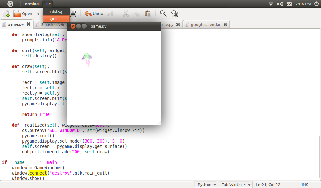 The Raving Rick: Using PyGame in a PyGtk App