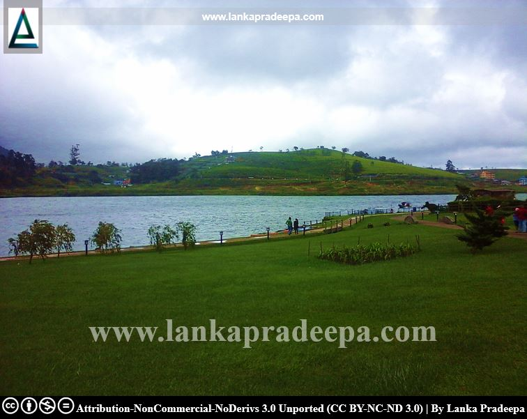 A view of Lake Gregory, Nuwara Eliya
