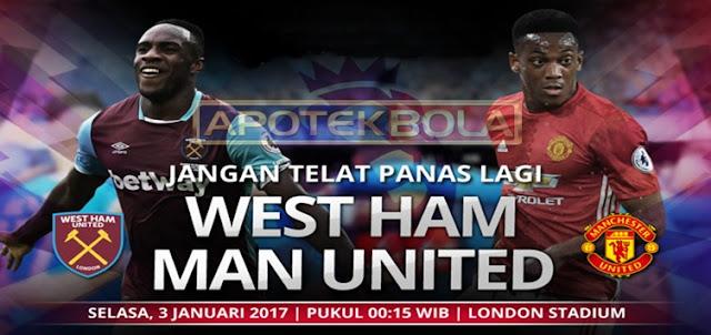 Prediksi Pertandingan West Ham United vs Manchester United 3 Januari 2017