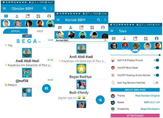 BBM Mod Plus Stories Extra sosmed Of Modder V3.3.1.24 Status Going on Apk