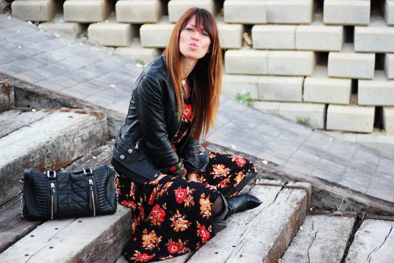 Flowers , Tendencias Otoño 2015, Fashion blogger, streetstyle, sheinside dress