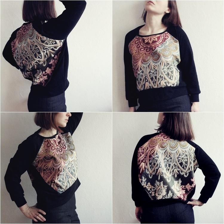bluza z obrusa