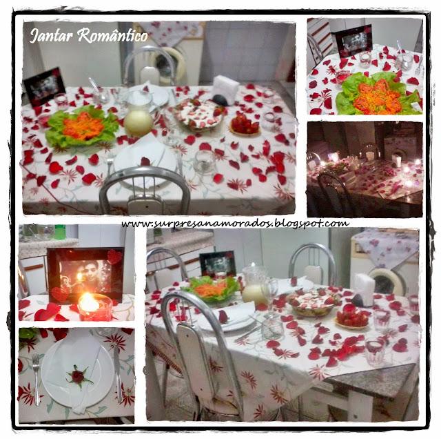 jantar romântico para o namorado