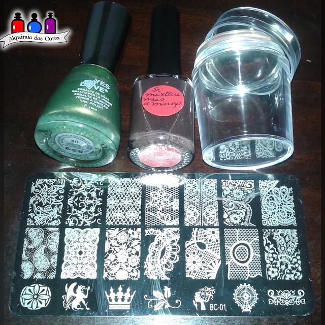 Alquimista Convidada, Katia Ramos, Yes Love, Verde, SiMiXture, Marrom. Carimbo, Clear Jelly, BC-01, Placa BC-01