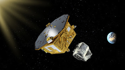 illustration of LISA probe in space