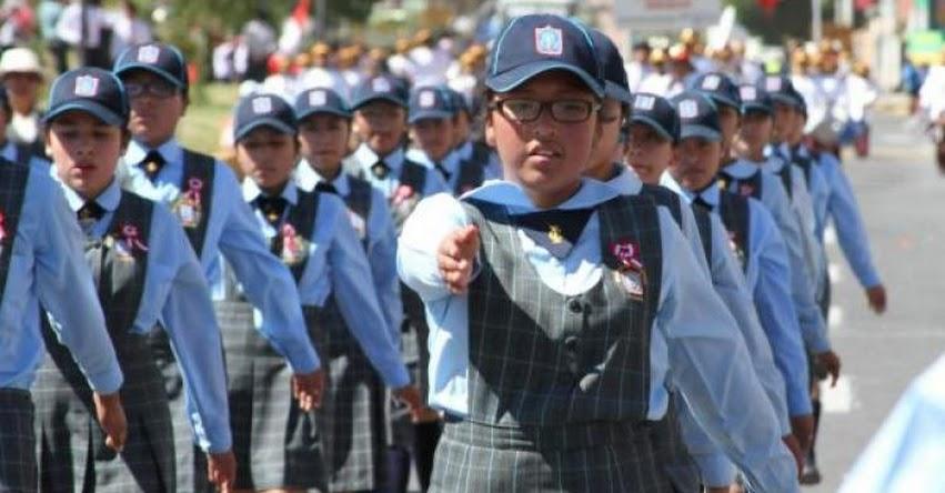 Colegios de la UGEL Arequipa Sur desfilarán este 21 de julio