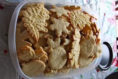 untraditional shapes, traditional orange cookies