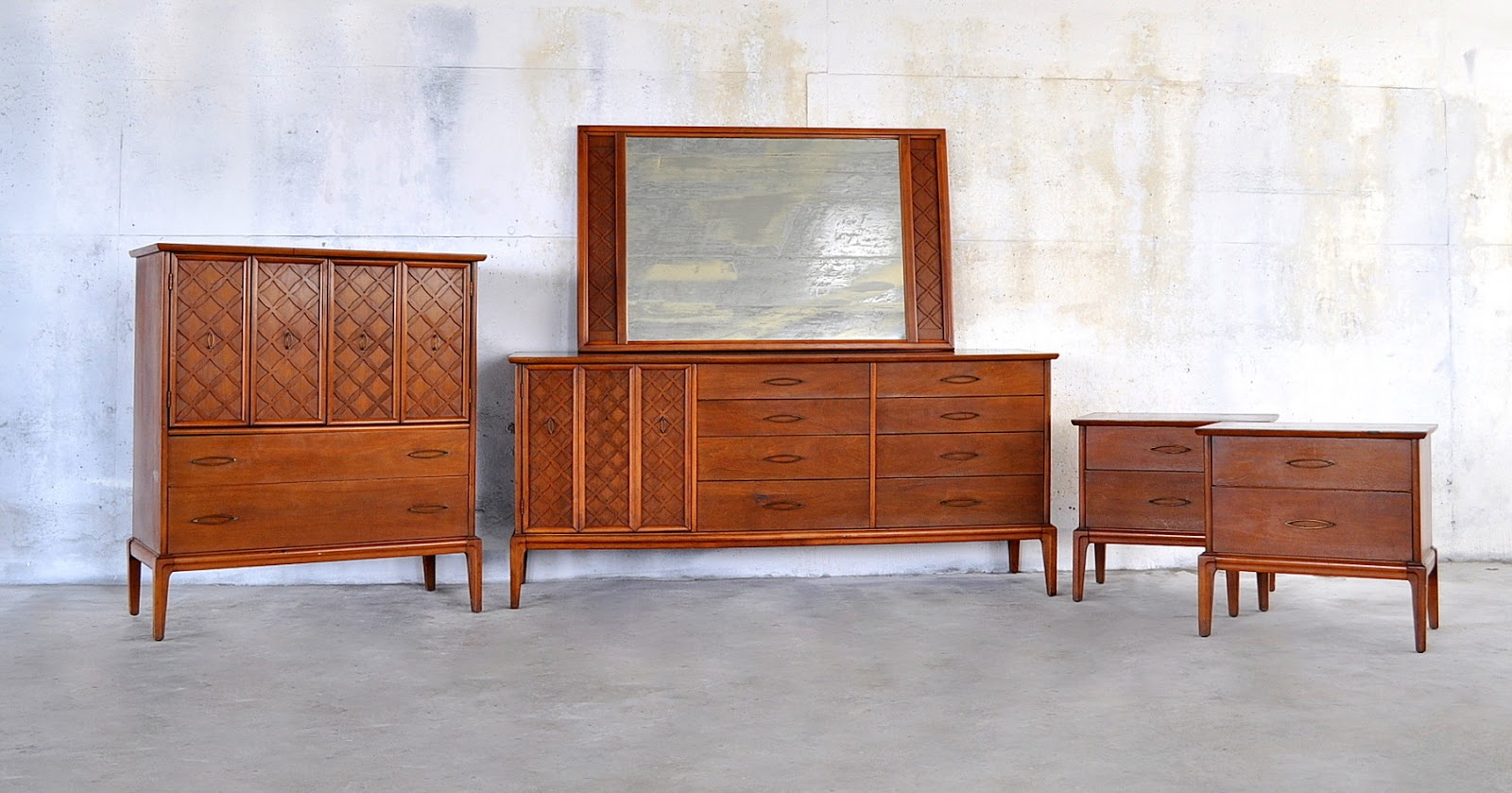 Select modern mid century modern highboy dresser - Midcentury modern bedroom furniture ...