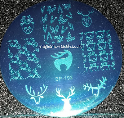 Stamping-Plate-Review-Born-Pretty-Store-BPS-BP-192-Christmas-Deer-Antlers