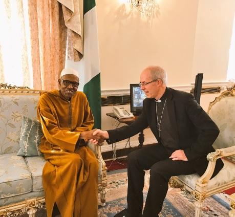 buhari and Archbishop of Canterbury