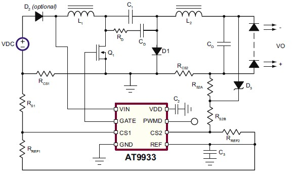 simple buck led driver with pwm input the circuit
