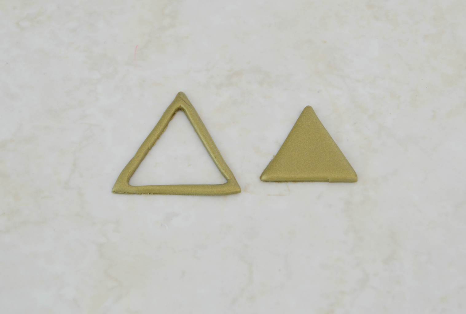 Clay Triangle Drawing Vikalpah Diy Faux Metal Geometric Necklace Using Clay