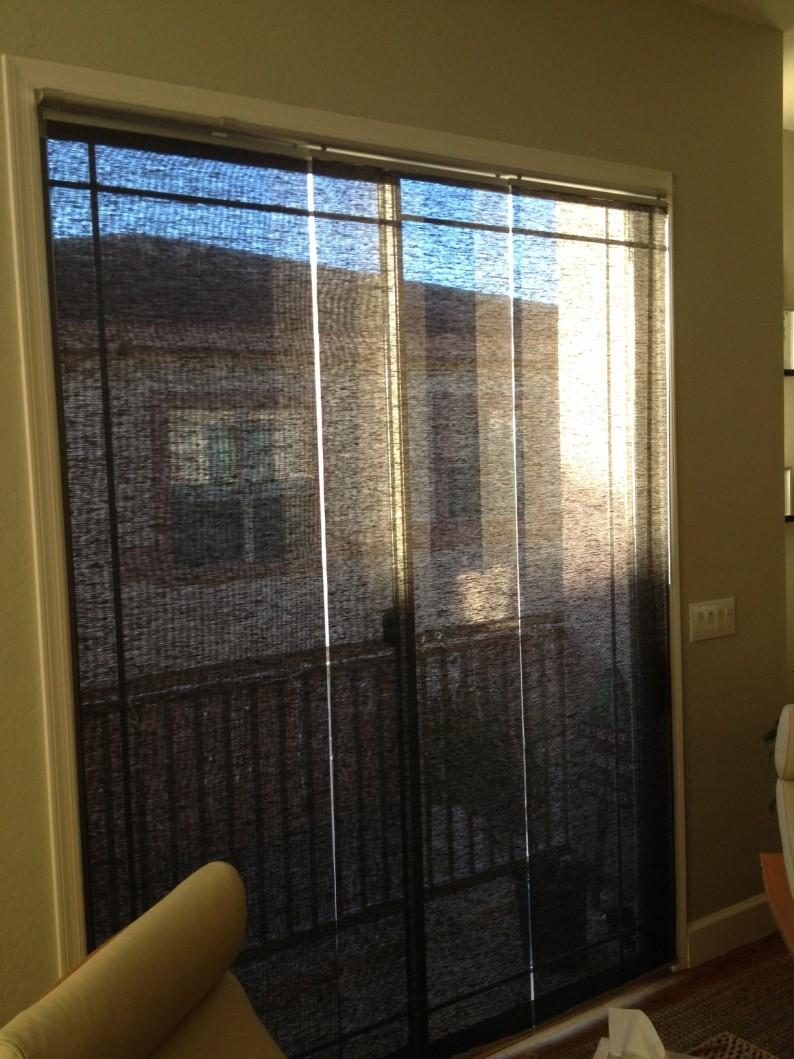 Kvartal Panels Mounted Inside A Sliding Glass Door Get