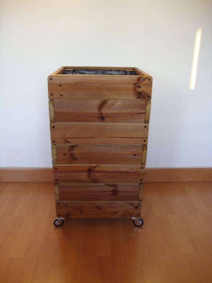 Jardineras de madera - Jardineras con ruedas ...