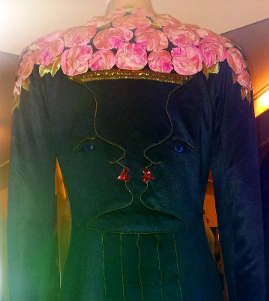 Schiaparelli's 1938 coat-dress, designed with Jean Cocteau, is typical of her Surrealist style