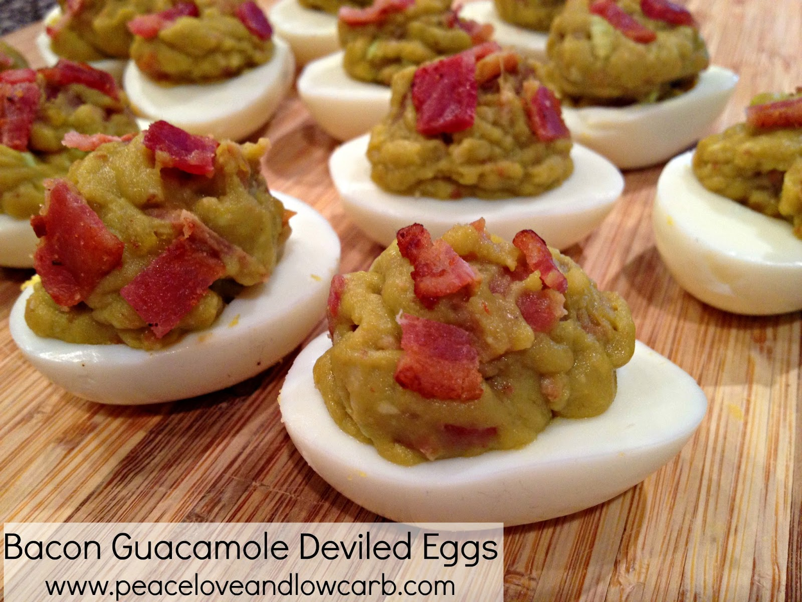bacon guacamole deviled eggs peace love and low carb. Black Bedroom Furniture Sets. Home Design Ideas