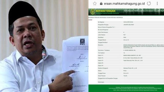 Putusan Kasasi MA Menangkan Fahri Hamzah Lawan PKS