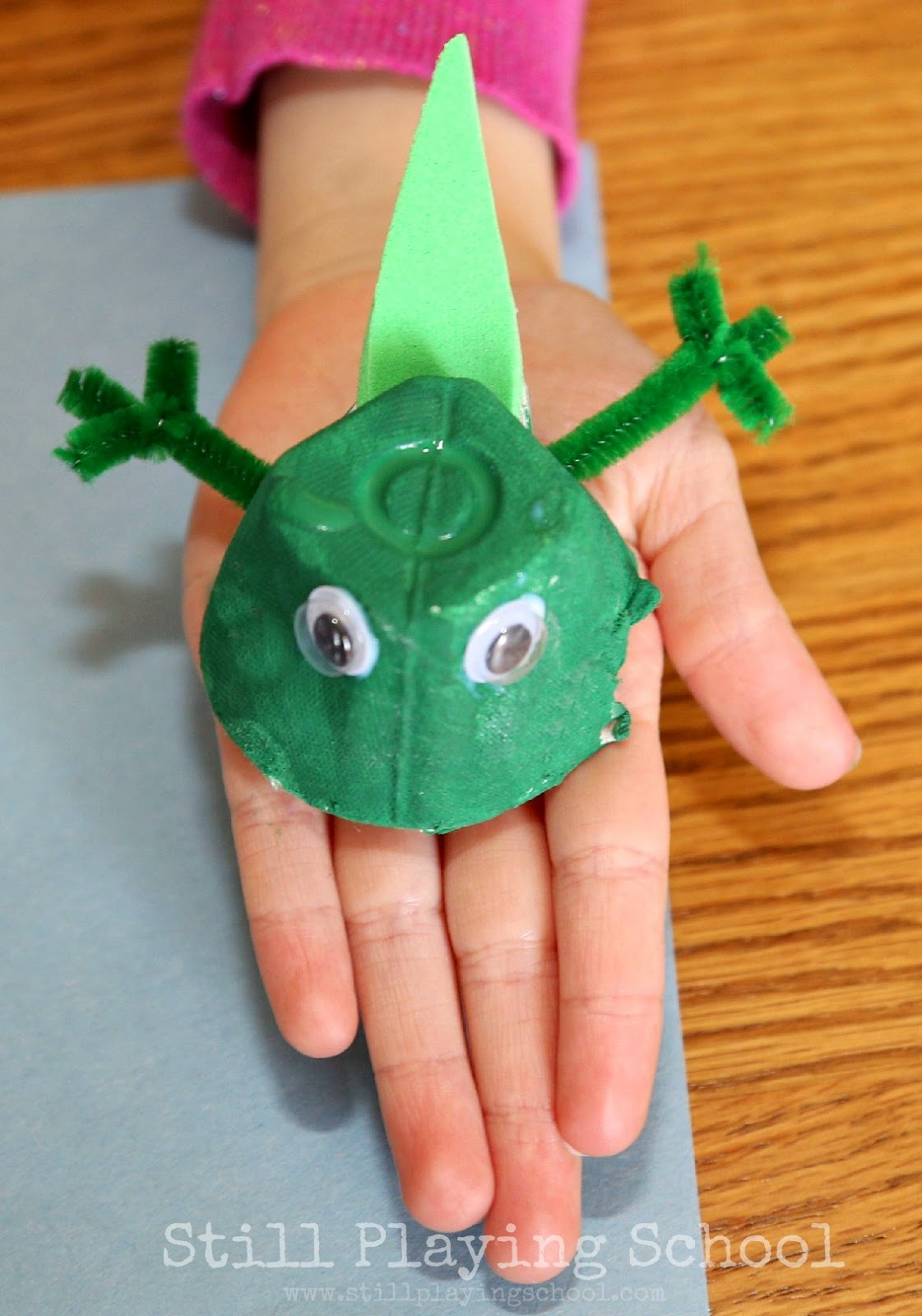 Frog life cycle recycled craft still playing school for Ideas for crafts to make
