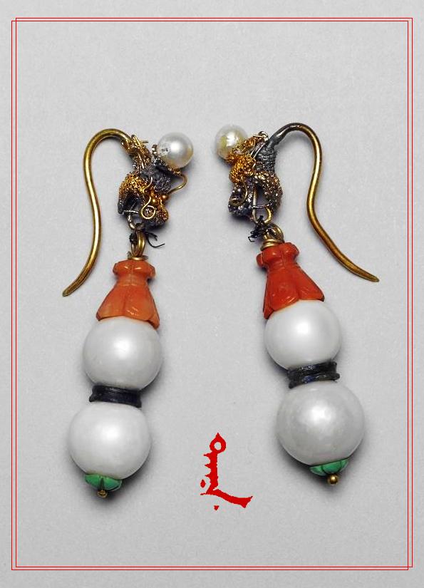 Sulfan Manju ( Free Manchuria 自由滿洲 )®: 東珠(耳環)