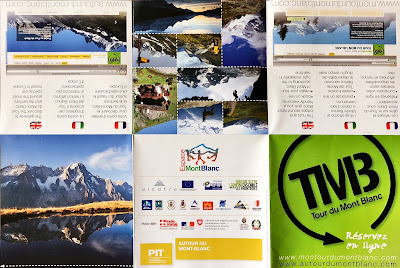 Brochure of the Tour du Mont Blanc (TMB).