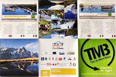 Brochure of the Tour du Mont Blanc (TMB).